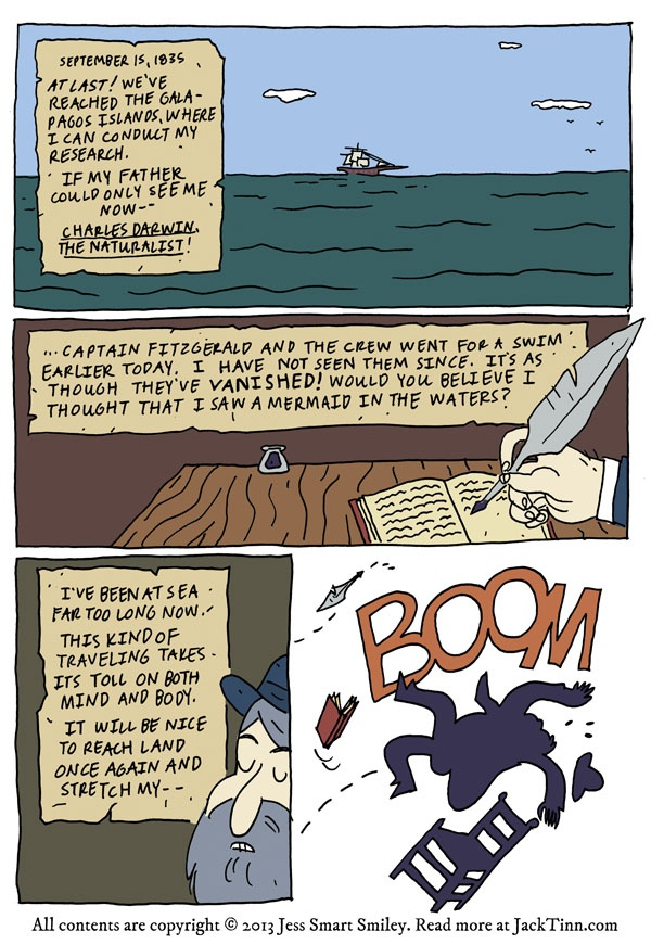 Page One Of My Newest Comic Jack Tinn And The Aquanauts Never Done A