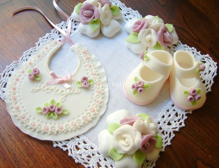 Fondant Baby Shower Cake Toppers