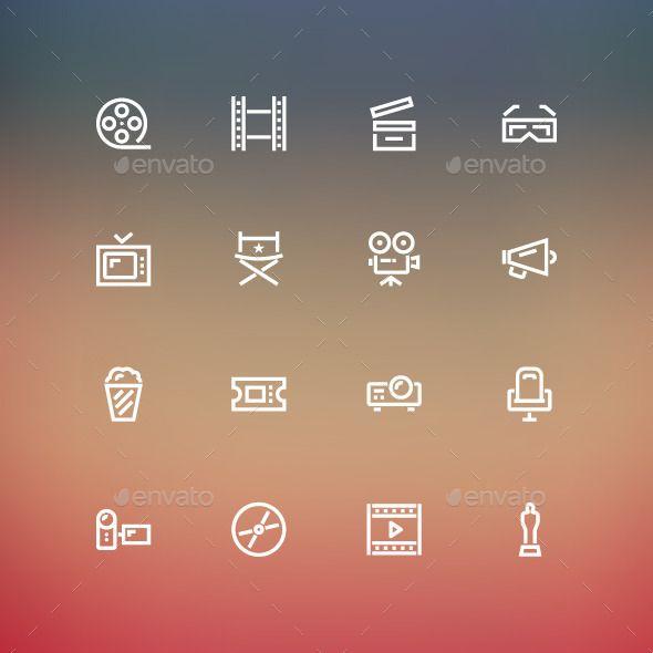 Cinema Icons Design #icons Download: http://graphicriver.net/item/cinema-icons/8894295?ref=ksioks
