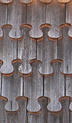 Forma y color de las tejuelas de madera de Chiloé, reportaje de fotografías de Raul Antonio Alvarez.