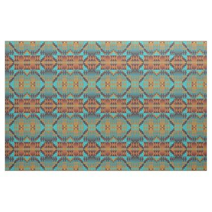 Ethnic Native American Indian Tribal Pattern Art Fabric - #customizable create your own personalize diy