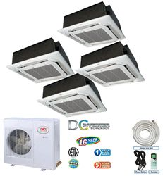 Quad Zone split air conditioner YMGI ductless air conditioner and split system 12k+12k+12k+12k-Quad-45CH-12EC-x4