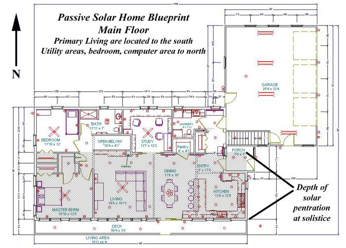 1000 images about passive solar home on pinterest trees for Passive solar house floor plans
