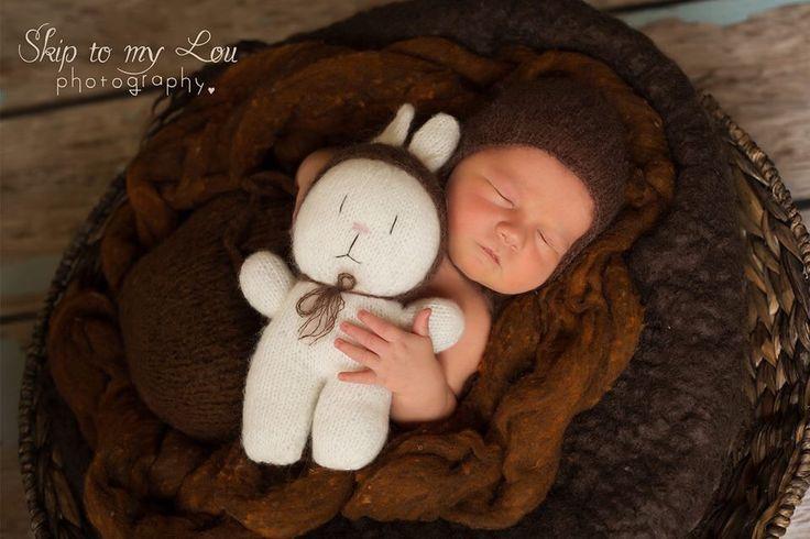 Cuddles with a bunny | newborn pose | Melbourne photographer