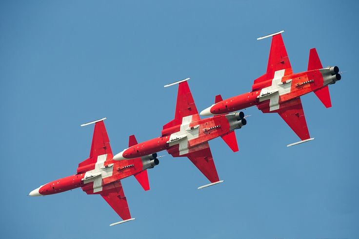 Patrouille Suisse Tripple @ AIR 14 by Michael Angst on 500px