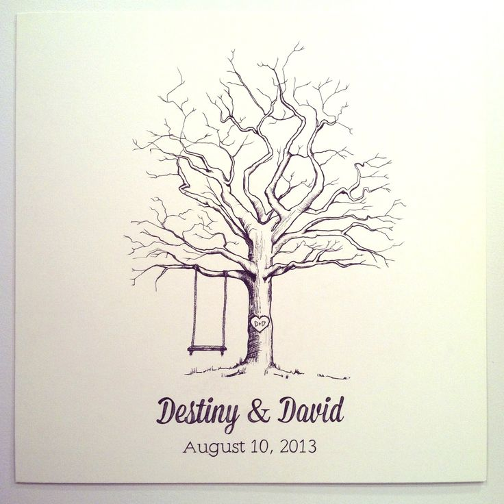Thumbprint Tree Guest Sign: Fingerprint Tree Guest Sign In