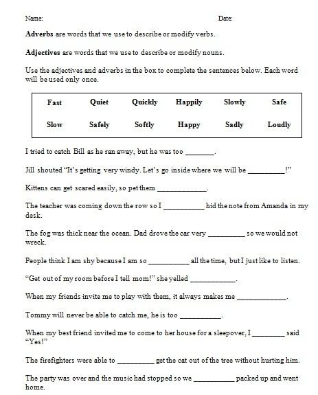 Free worksheet for third grade level aligned to common core standard CCSS.ELA-Literacy.L.3.1g.