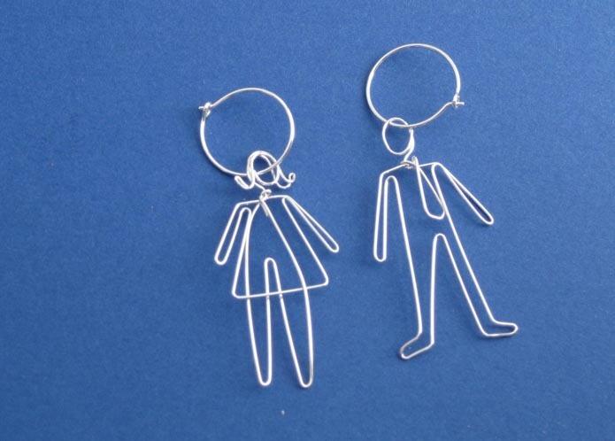 People Earrings by Miro Chun