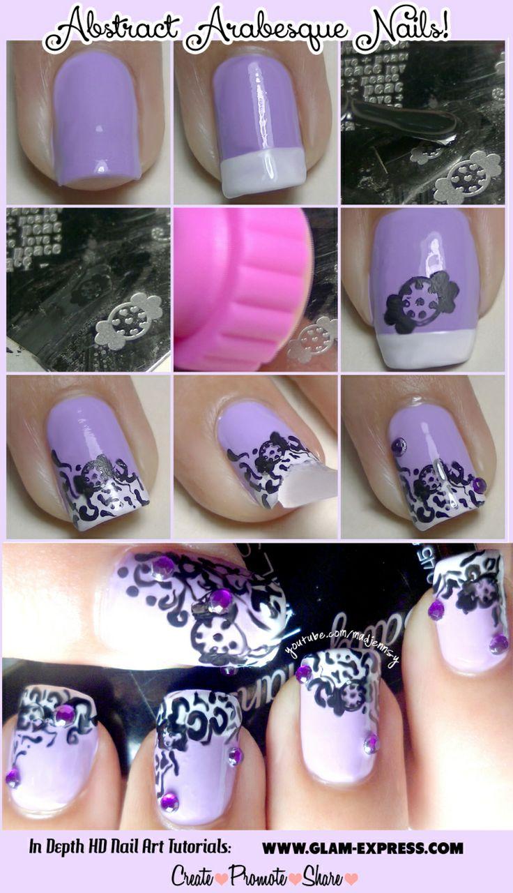 Nail Art Ideas » Stamping Nail Art Tutorial - Pictures of Nail Art ...