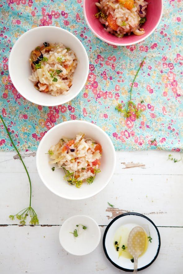 Blood Orange and Fennel risotto.