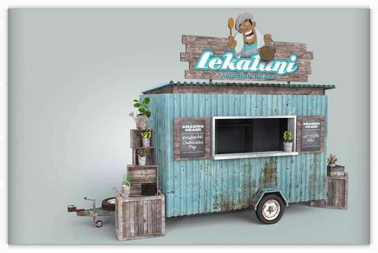 Love & Design was briefed to design the exterior look of their food trailer. We came up with the idea for the trailer to look like a township shack.