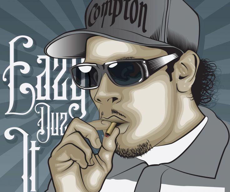 Eazy E nwa gangsta rapper rap hip hop eazy-e marijuana weed 420   d wallpaper background