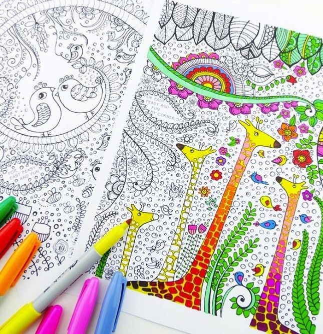 5 Free Coloring Printables Because Coloring Is the New Meditation via Brit + Co.