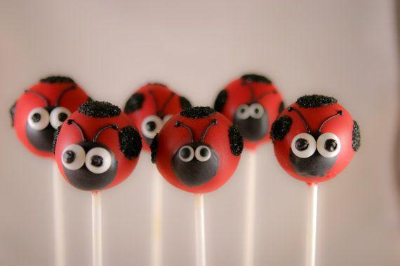 Ladybug Cake Pops by SoSweetPops on Etsy, $24.00