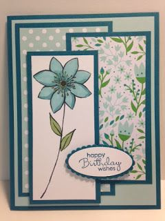 March 2016 Paper Pumpkin, Petite Pairs, Birthday Card, Stampin' Up!, Rubber Stamping, Handmade Cards