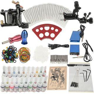 2 Guns Tattoo Machine Kit with 50 Needles 20 Inks,$59.99
