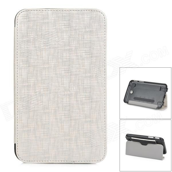 PU Leather + PC Case w/ Stand / Speaker / Auto-sleep for Samsung Galaxy Tab 3 P3200 - Golden