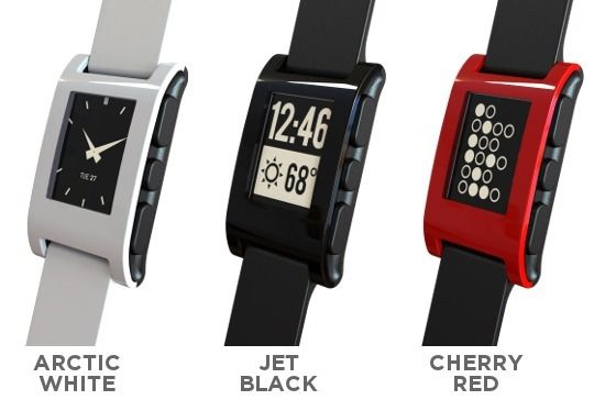 The Pebble Smart Watch is a new product that allows Iphones and Androids to connect to the watch by using Bluetooth.