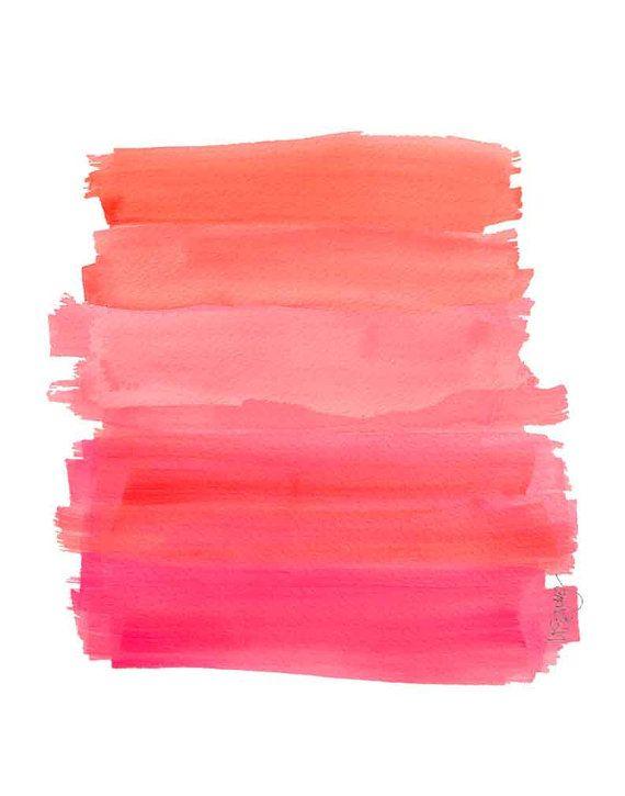 Orange  Pink Ombre