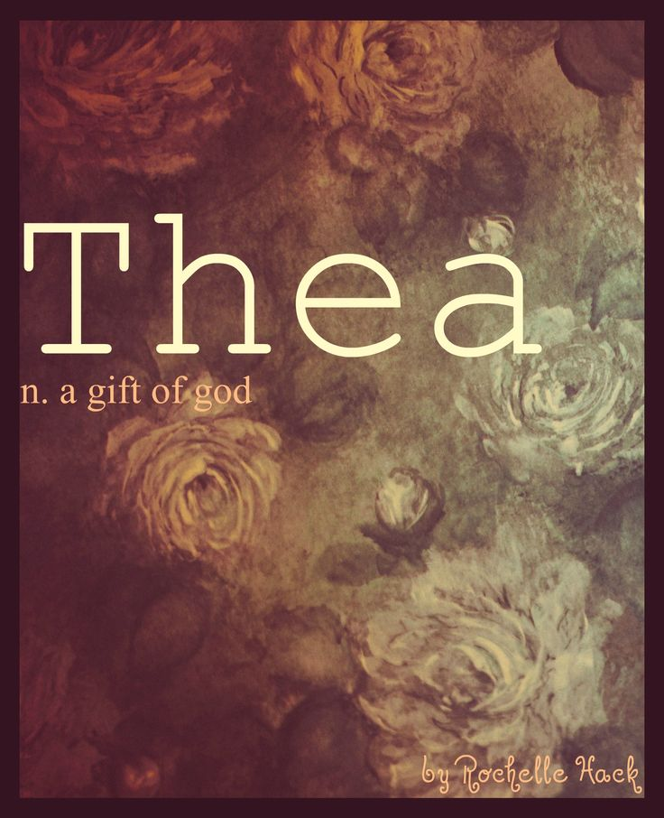 "Baby Girl Name: Thea. Meaning: A Gift of God. In Greek mythology Thea was a ""Titaness"" associated with the sun, the moon, and the sky. http://www.pinterest.com/vintagedaydream/baby-names/"