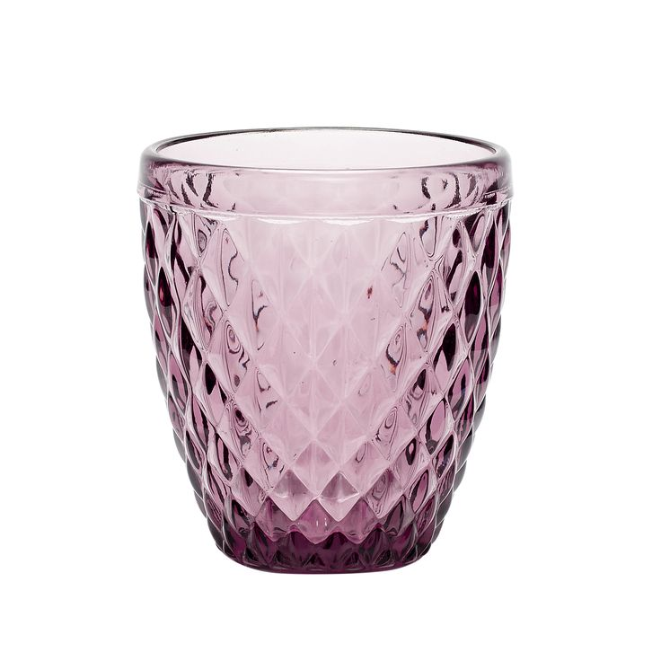Purple tealight glass with pattern. Product number: 480112 - Designed by Hübsch