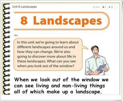 """Unidad 5 de Social Science de 3º de Primaria: """"Landscapes"""""""