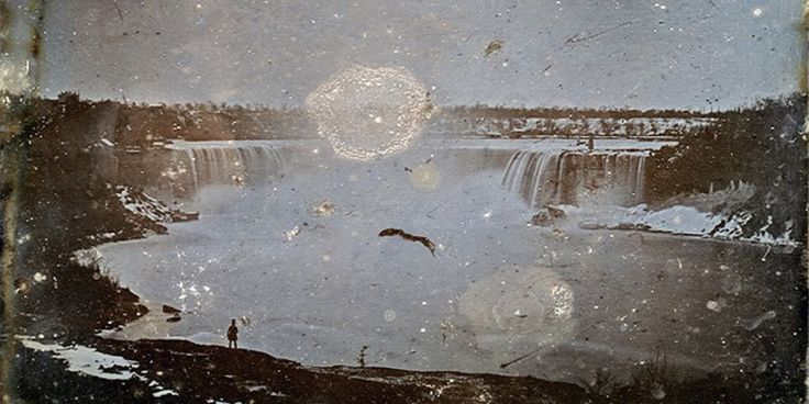 This Is The First Ever Photo Of Canada. Taken in 1840 (yes, technically before Canada was actually a country, but stop being so persnickety), the picture of Niagara Falls was discovered in 1997 at Newcastle University in England, where it had been sitting forgotten in the Special Collections of the school's library.