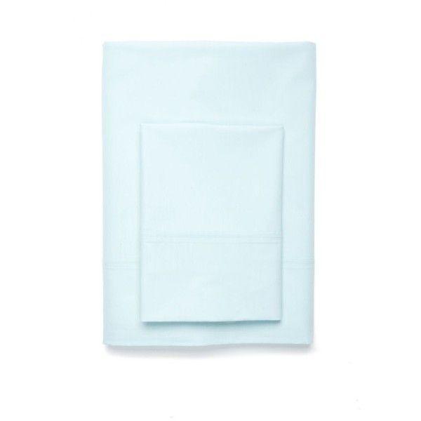 Aqua Nupercale Sheet Set ($70) ❤ liked on Polyvore featuring home, bed & bath, bedding, bed sheets, aqua, cotton flat sheet, aqua blue bedding, cotton pillowcases, aqua blue sheet set and blue green bedding