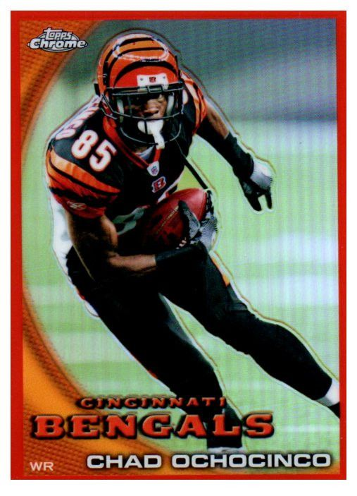 2010 Topps Chrome Chad Ochocinco Orange Refractor Cincinnati Bengals