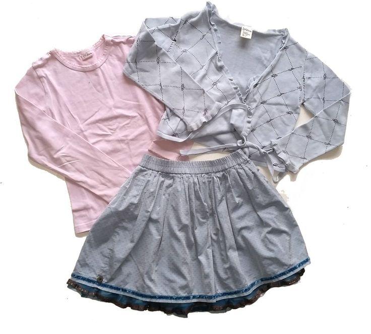 Jottum worn condition 3 pcs Rembrandt outfit skirt / top / cardigan 116 6 Y