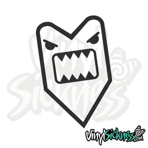 Premium quality angry domo sticker decal available in many sizes and colors