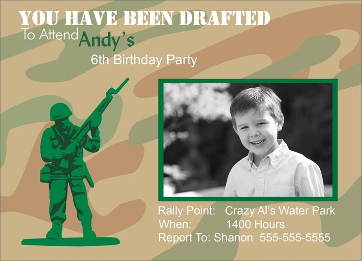 Army Themed Birthday Party - Birthday Invitations from CardsDirect