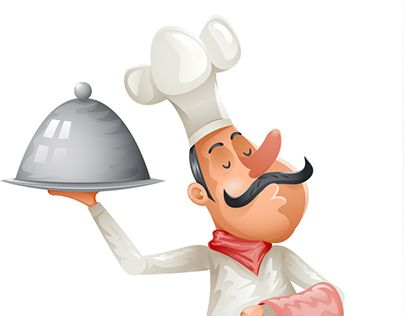 """Check out new work on my @Behance portfolio: """"Chef Cook Vector Character Illustration"""" http://be.net/gallery/53798929/Chef-Cook-Vector-Character-Illustration"""