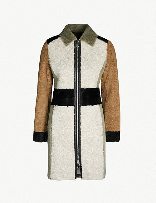 4cf94092c381 YVES SALOMON Merinillo contrast-panel shearling coat | CASUAL OUTER ...