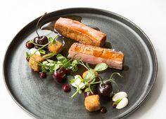 Crispy Duck Breast and Leg with Cherries Recipe - Great British Chefs
