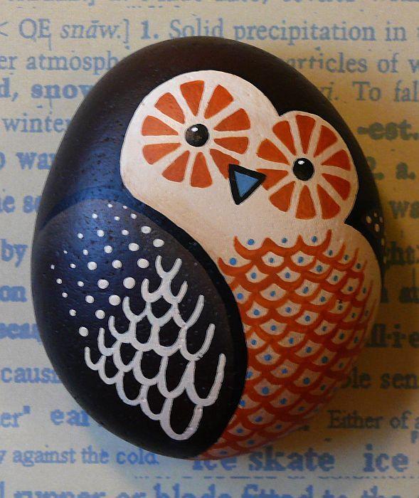 #Owl #Painted rocks