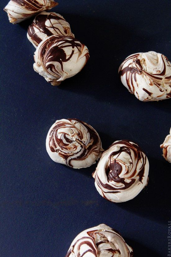 Chocolate Swirl Meringue from Bakers Royale