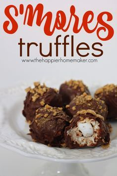 Easy No Bake S'mores Truffles My favorite camping snack in an easy to make dessert recipe!