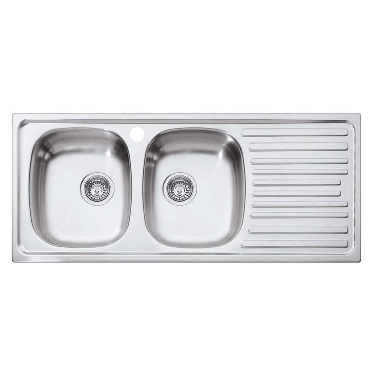 Eurodomo 1-Tap Left Hand Sink 2 Bowl - Masters Home Improvement - $205