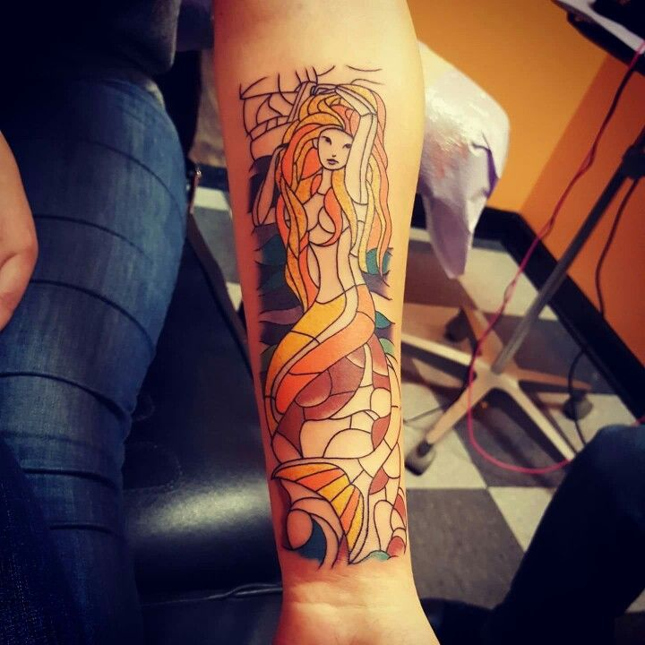 Harry Styles Mermaid Tattoo