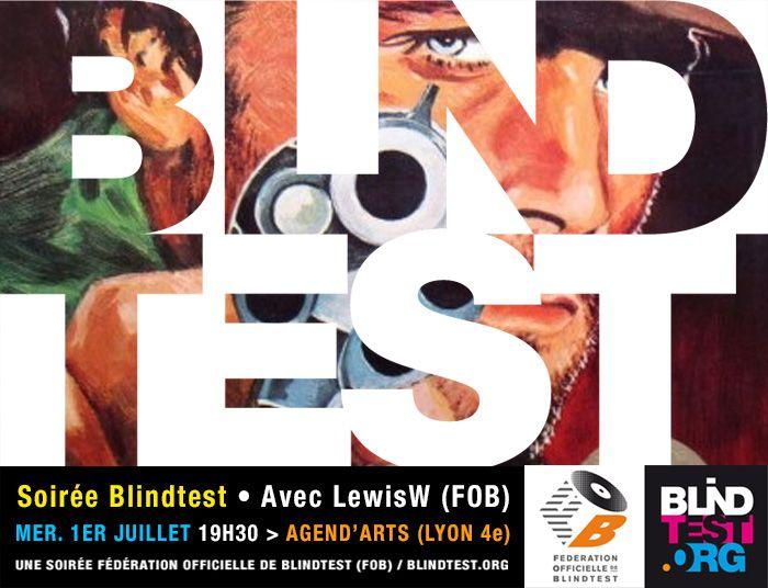 soirée blindtest Agend'arts, mer. 1er juillet avec LewisW