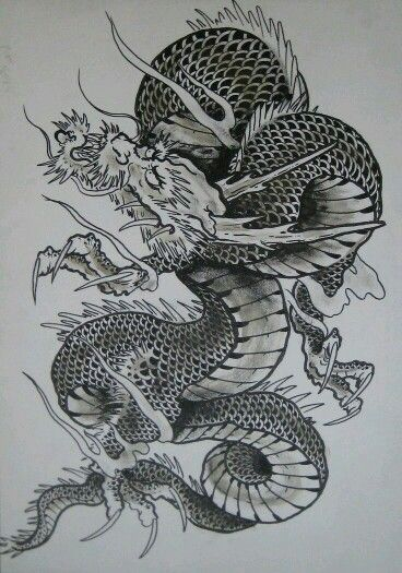 31 best images about japanese dragon tattoo on pinterest for Japanese koi dragon