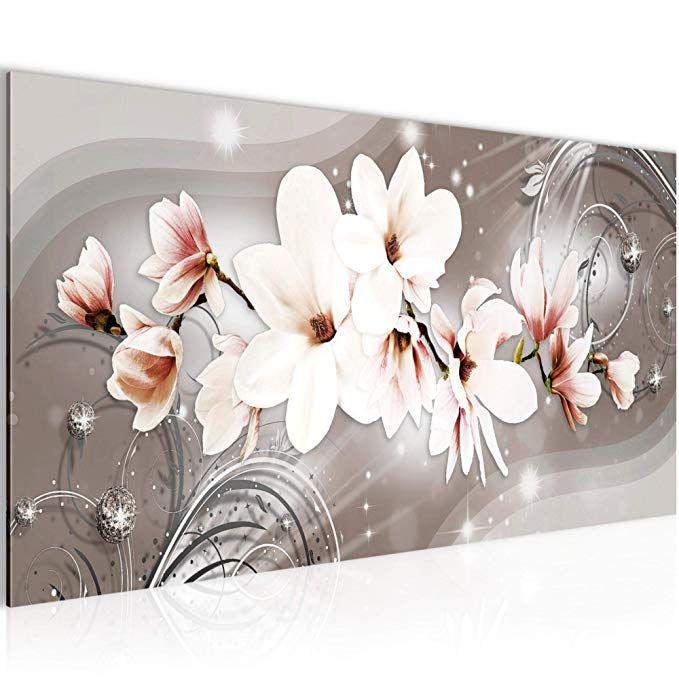 Affiliate: Bilder Blumen Magnolien Wandbild Vlies - Leinwand ...