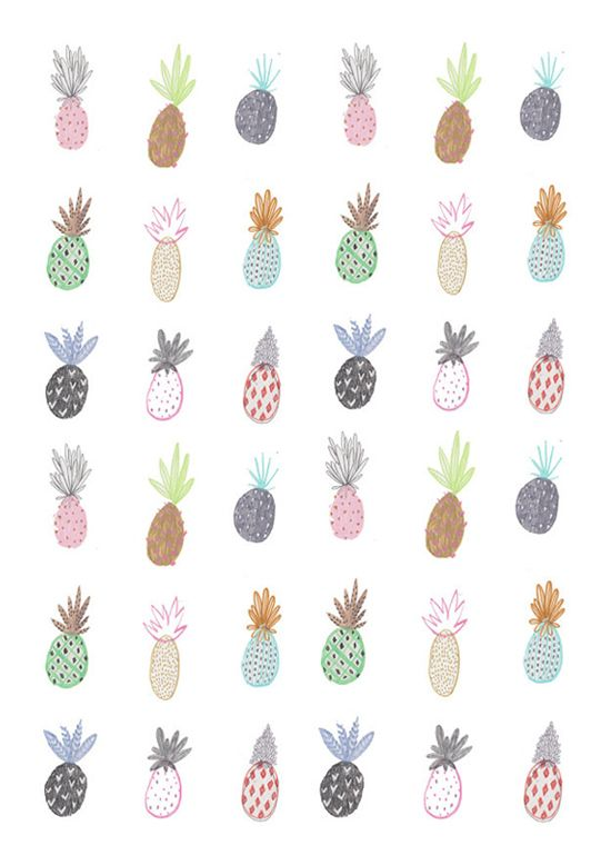 Cute pineapple print.