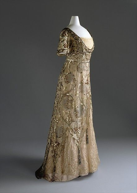 Evening dress Callot Soeurs (French, active 1895–1937) Date: 1910–14 Medium: cotton, silk, metal Accession Number: 1981.380.2