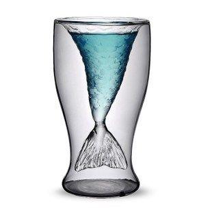Mermaid double glass wine glasses sold separately creative gifts Crystal Skull Skull bottle original small yellow duck-ZZKKO ($6.00) - Svpply