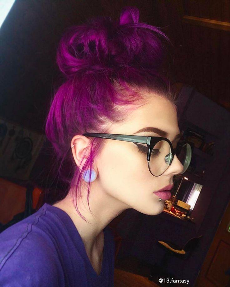 Connu Oltre 25 idee di tendenza per Capelli viola su Pinterest | Stili  PL44