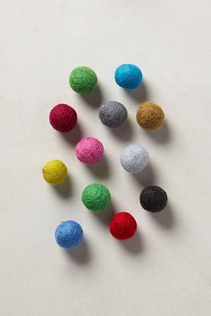 Felted Slingshot Balls - anthropologie.com