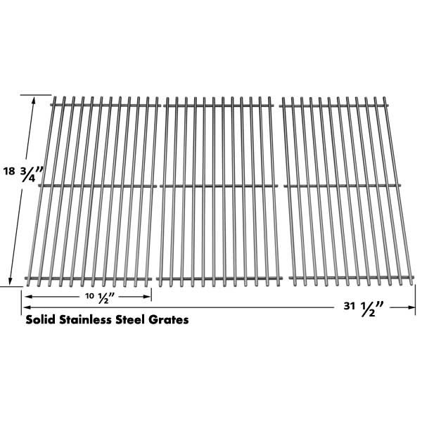 3 PACK STAINLESS STEEL COOKING GRID FOR BAKERS AND CHEFS Y0101XC, CENTRO 5000RT AND CHARBROIL 463241904 GAS GRILL MODELS Fits Compatible Bakers and Chefs Models : Y0101XC, Y0202XC, Y0202XCLP, Y0202XCNG, Y0660-1, Y0660NG-1 Read More @http://www.grillpartszone.com/shopexd.asp?id=33969&sid=34965