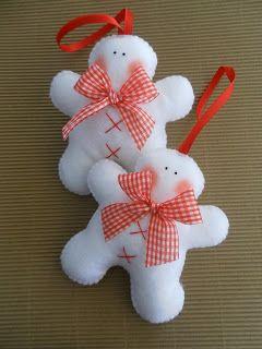 Boneco de neve simples de feltro
